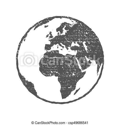 Grunge texture gray world map globe transparent vector illustration gumiabroncs Images