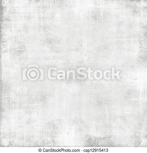 grunge, texture, résumé, papier, vieux, fond, -, blanc - csp12915413