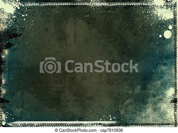 Grunge textured artistic frame - csp7810936