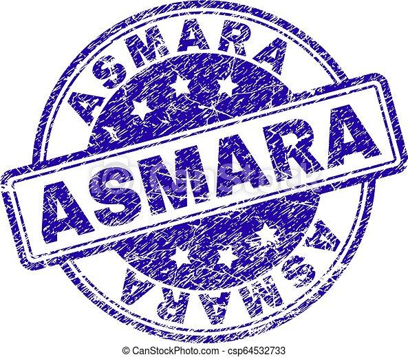 Grunge Textured ASMARA Stamp Seal - csp64532733
