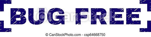 Grunge Textured BUG FREE Stamp Seal Between Corners - csp64668750