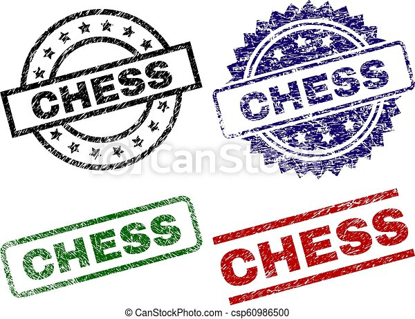 Grunge Textured CHESS Seal Stamps - csp60986500