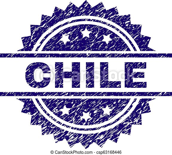 Grunge Textured CHILE Stamp Seal