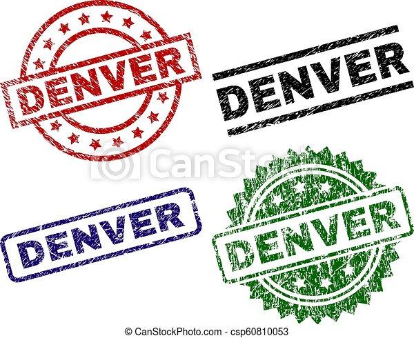 Grunge Textured DENVER Seal Stamps - csp60810053