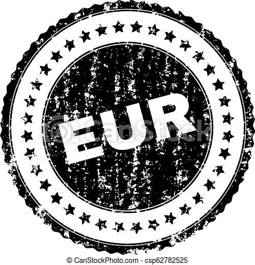 Grunge Textured EUR Stamp Seal - csp62782525