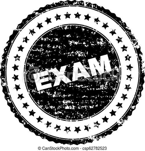 Grunge Textured EXAM Stamp Seal - csp62782523