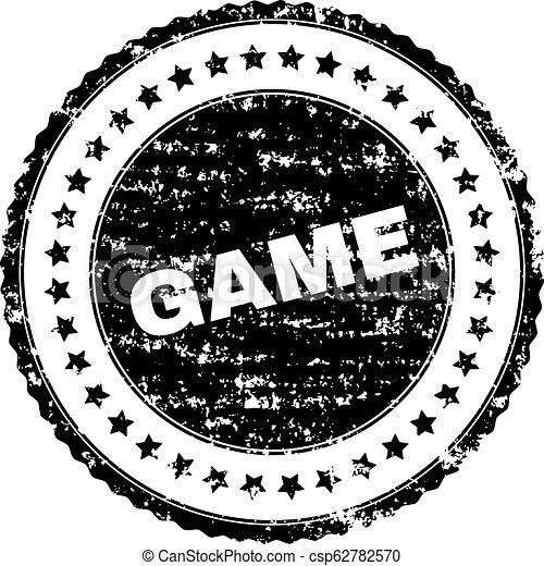 Grunge Textured GAME Stamp Seal - csp62782570