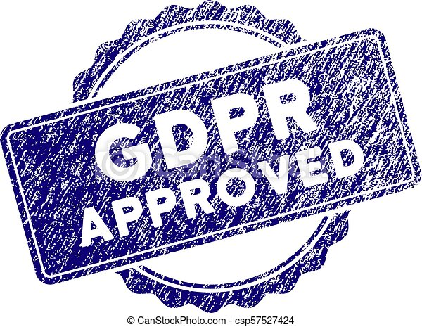 Grunge Textured GDPr Approved Stamp Seal - csp57527424