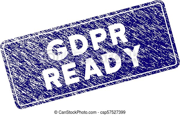 Grunge Textured GDPr Ready Rounded Rectangle Stamp Seal - csp57527399