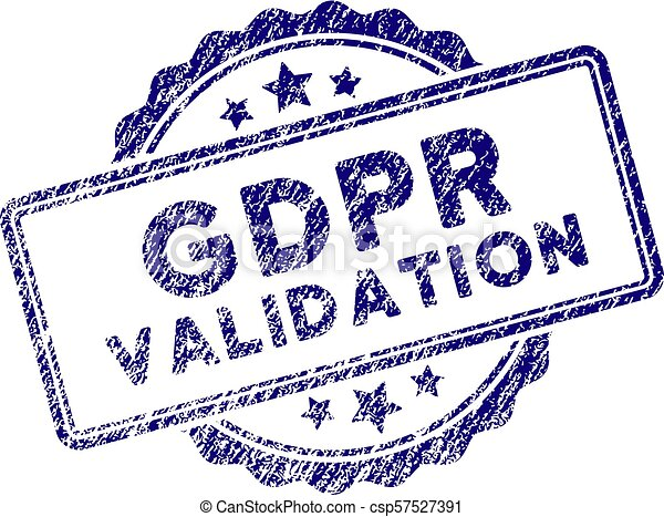 Grunge Textured GDPr Validation Stamp Seal - csp57527391