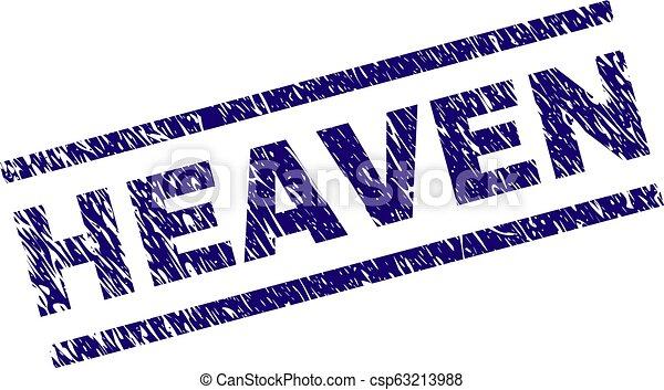 Grunge Textured HEAVEN Stamp Seal - csp63213988