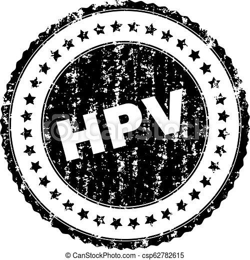 Grunge Textured HPV Stamp Seal - csp62782615