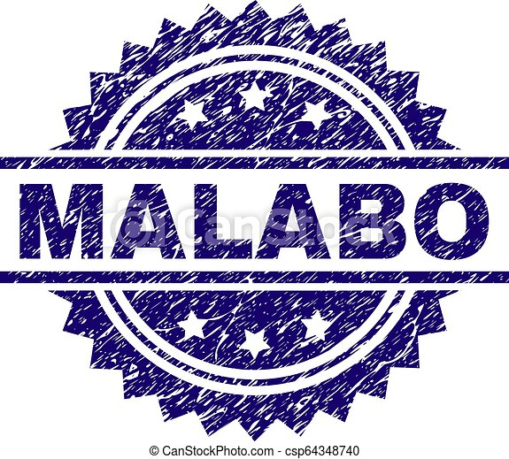 Grunge Textured MALABO Stamp Seal - csp64348740