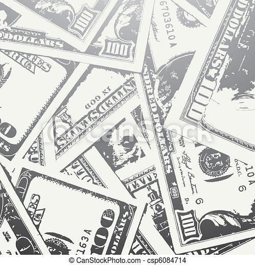grunge textured money background - csp6084714