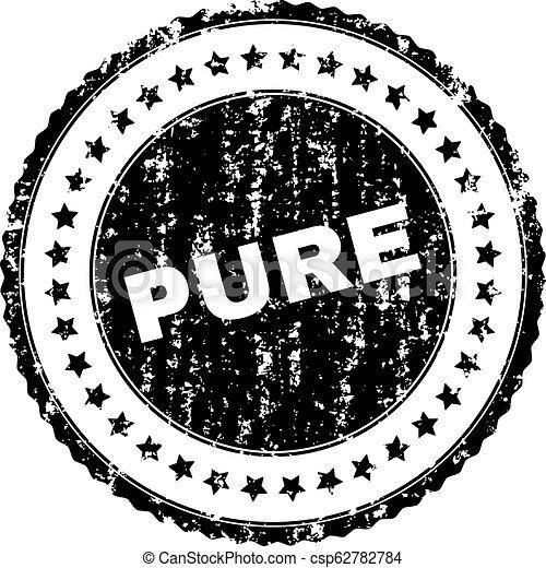 Grunge Textured PURE Stamp Seal - csp62782784