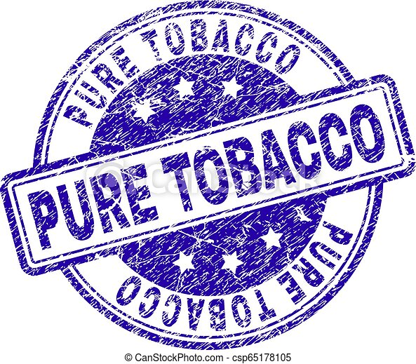 Grunge Textured PURE TOBACCO Stamp Seal