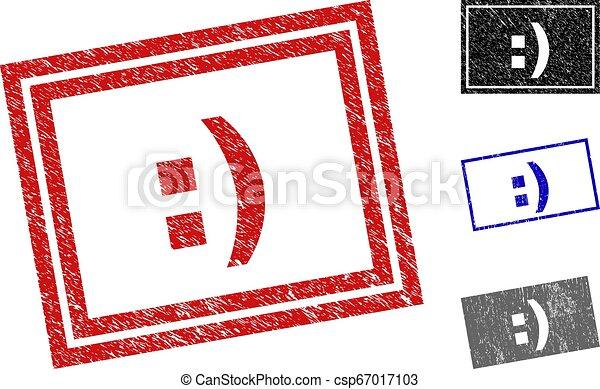 Grunge :) Textured Rectangle Stamp Seals - csp67017103
