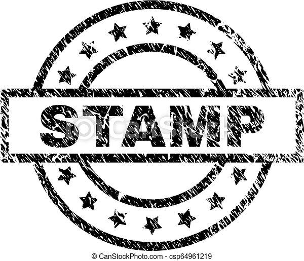 Grunge Textured STAMP Seal - csp64961219