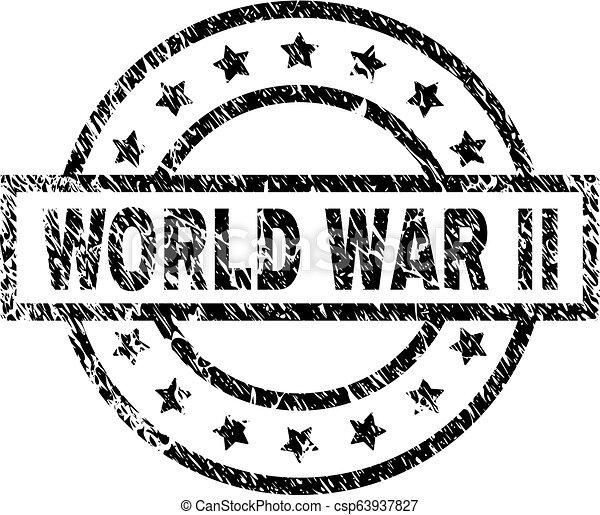 Grunge Textured World War Ii Stamp Seal