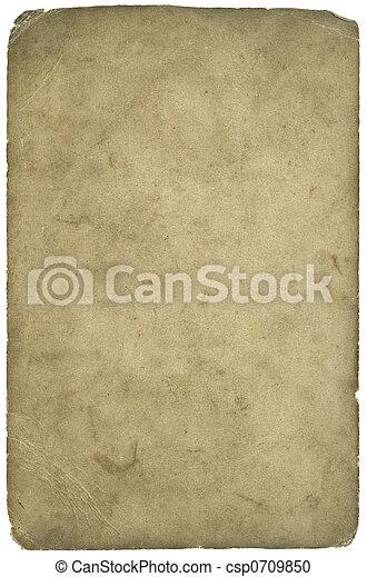 grunge, textuur, papier, af)knippen, ouderdom, (inc, path) - csp0709850