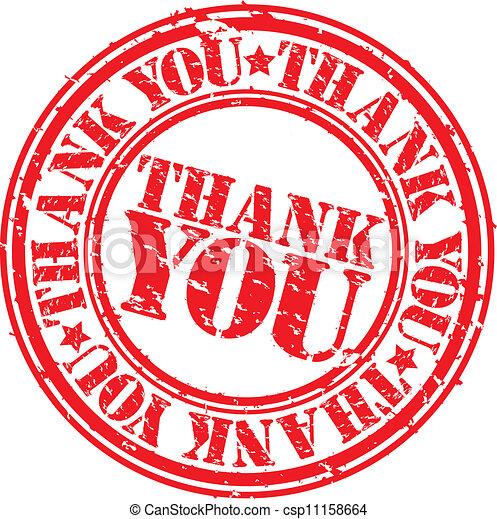 Grunge thank you rubber stamp, vect - csp11158664