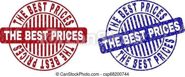 Grunge THE BEST PRICES Scratched Round Stamp Seals - csp68200744