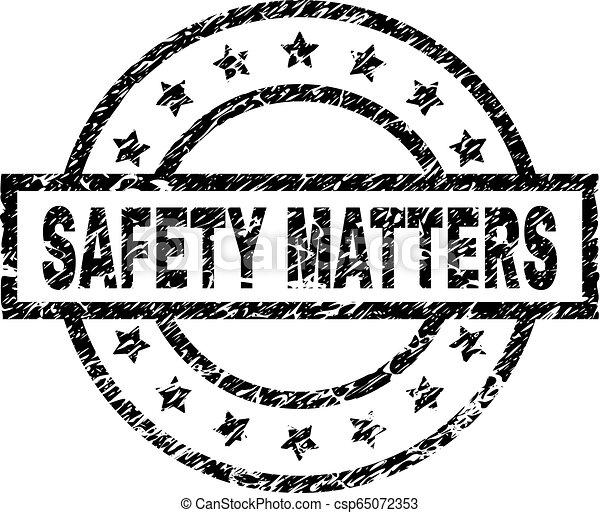 grunge, timbre, textured, compter, label sécurité - csp65072353