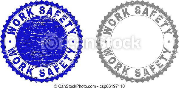 grunge, timbre, travail, cachets, sécurité, textured - csp66197110
