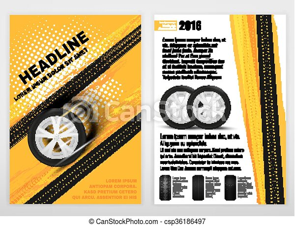 Grunge Tire A4 template 03 A