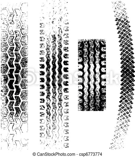 Grunge Tire tracks - csp6773774