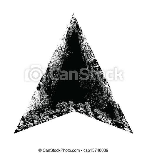 Grunge triangle frame shape. Grunge triangle frame vector ...