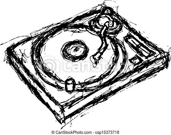 grunge turntable - csp15373718