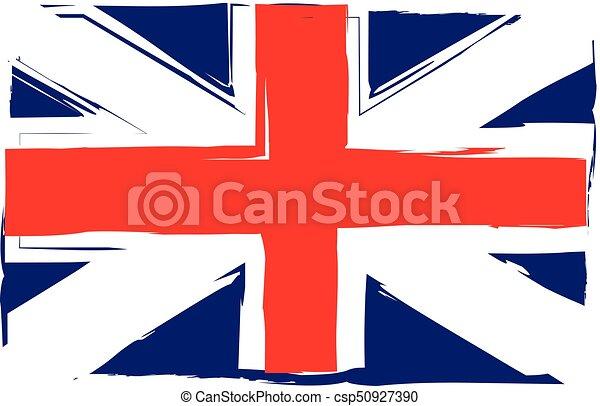 Grunge UK flag or banner - csp50927390