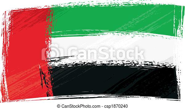 Grunge United Arab Emirates flag - csp1870240