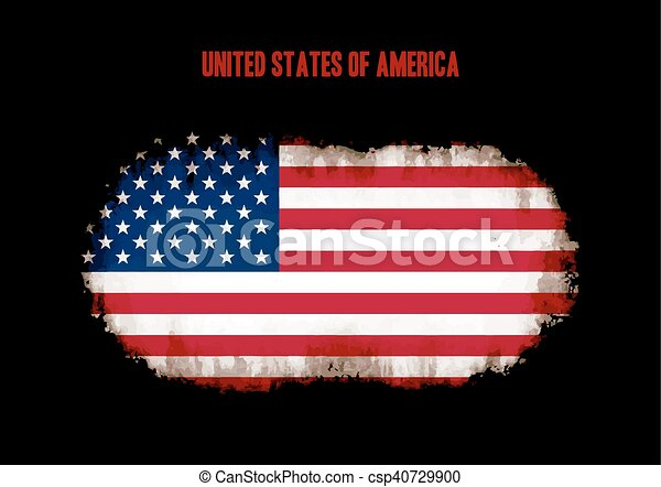 Grunge US flag - csp40729900