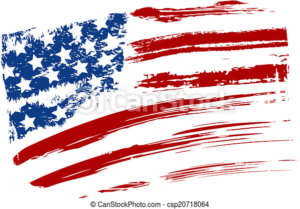 Grunge USA flag - csp20718064