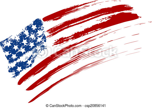 Grunge USA flag - csp20856141