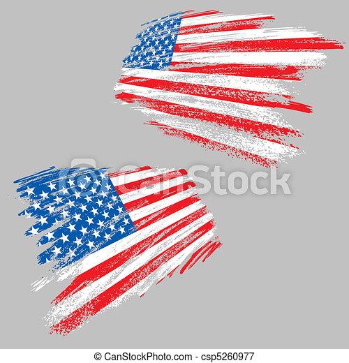 Grunge usa flag - csp5260977