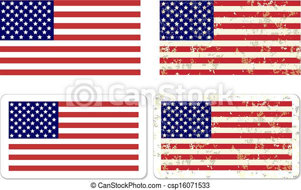 Grunge USA Flag STICKER - csp16071533