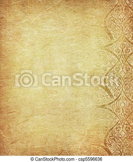 grunge, utrymme, text, avbild, bakgrund, blommig, eller - csp5596636