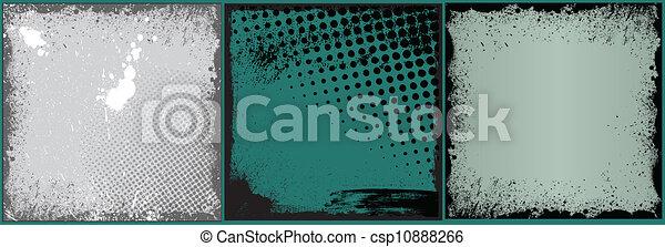 grunge, vector, achtergronden, retro - csp10888266