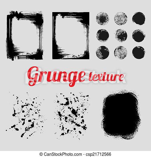 Grunge vector texture set - csp21712566