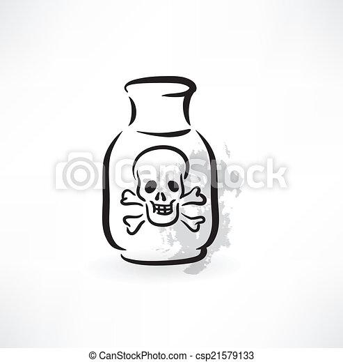 icono grunge venenoso - csp21579133