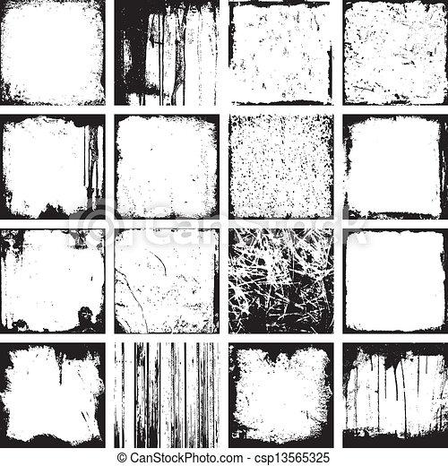 grunge, vetorial, fundos, quadrado - csp13565325