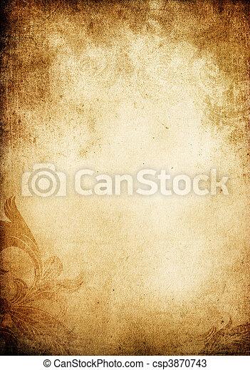 Grunge vintage decorated background. - csp3870743