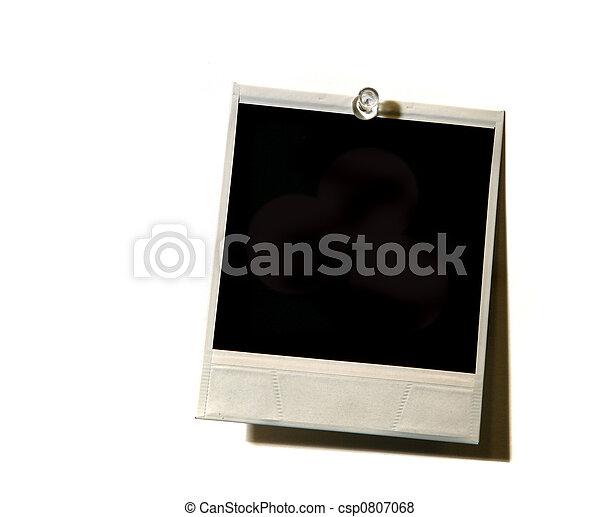 Grunge Vintage Polaroid on White - csp0807068