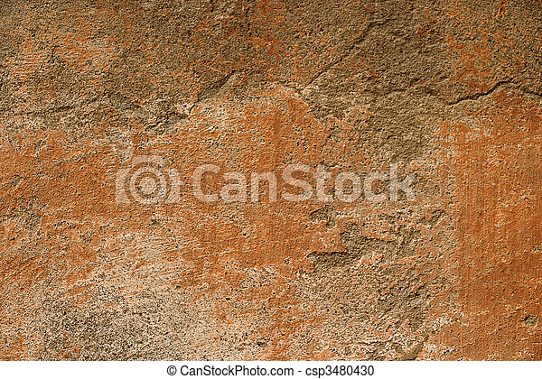 Grunge wall texture decorated - csp3480430