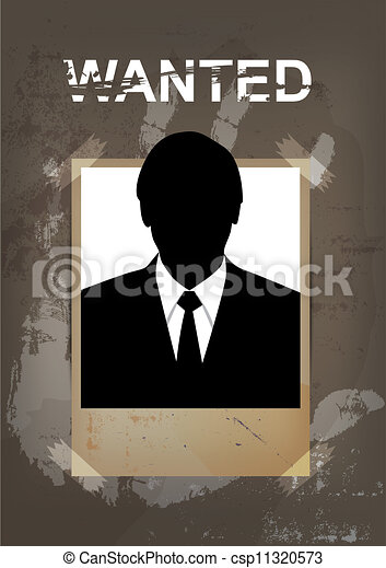 grunge wanted poster - csp11320573
