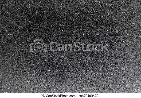 Grunge white color chalk texture on black board background - csp70499470