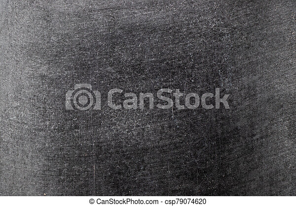 Grunge white color chalk texture on blank blackboard background with copy space - csp79074620